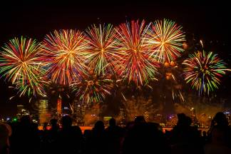 Skyworks on Australia Day in Perth City